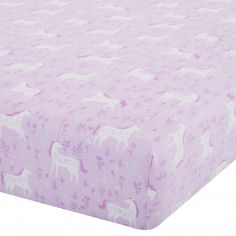 Catherine Lansfield Folk Unicorn Pink Fitted Sheet
