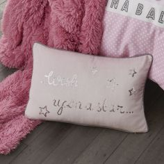 Wish Upon A Star Sequin Pink Filled Cushion