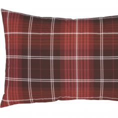 Catherine Lansfield Tartan Check Flannelette Pillowcases - Red