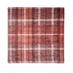 Catherine Lansfield Tartan Check Throw - Red