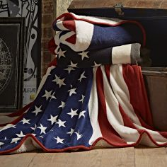 Catherine Lansfield Union Jack Supersoft Throw - Multi