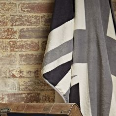 Catherine Lansfield Union Jack Supersoft Throw - Grey