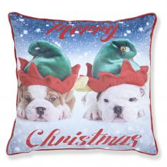 Catherine Lansfield Merry Christmas Dogs Cushion Cover