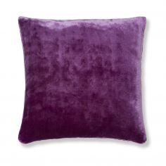 Catherine Lansfield Plain Raschel Cushion Cover - Aubergine Purple