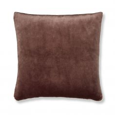 Catherine Lansfield Plain Raschel Cushion Cover - Chocolate Brown