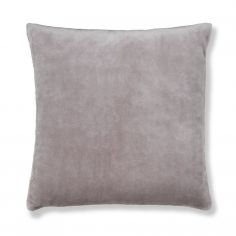 Catherine Lansfield Plain Raschel Cushion Cover - Silver Grey
