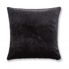 Catherine Lansfield Plain Raschel Cushion Cover - Ink Black
