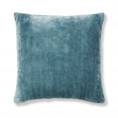 Catherine Lansfield Plain Raschel Cushion Cover - Jade Blue