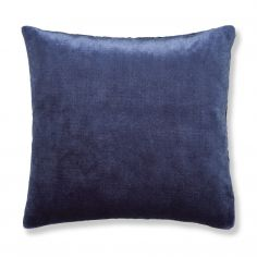 Catherine Lansfield Plain Raschel Cushion Cover - Navy Blue