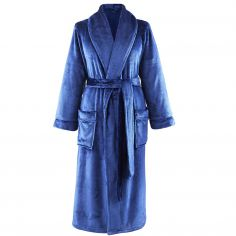 Catherine Lansfield CL Home So Soft Bathrobe - Navy Blue