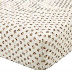 Catherine Lansfield Vintage Patchwork Flannelette Fitted Sheet - Natural