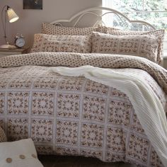 Catherine Lansfield Vintage Patchwork Flannelette Pillowcases - Natural