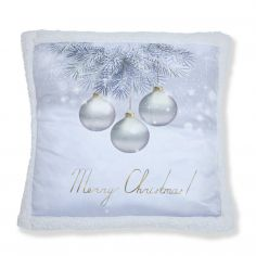 Catherine Lansfield Christmas Greetings Baubles Cushion Cover