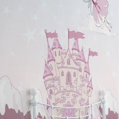 Catherine Lansfield Mythical Garden Pink Wall Art for Kids Bedroom