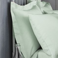 Bianca 100% Cotton Soft 200 TC Oxford Pillowcase - Green