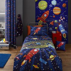 Colourful Outer Space Kids Duvet Cover Set