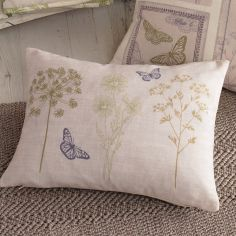 Botanique Floral Unfilled Boudoir Cushion - Green Cream