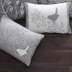 Hanworth Floral Unfilled Boudoir Cushion - Charcoal Grey