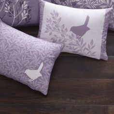 Hanworth Floral Unfilled Boudoir Cushion - Heather Purple