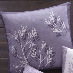 Hanworth Floral Double Sided Cushion Cover - Heather Purple