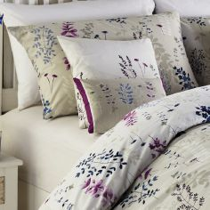 Haze Floral Cushion Cover - Blue & Puple