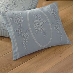 Malton Floral Unfilled Boudoir Cushion - Blue