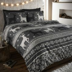Helsinki Thermal Flannelette Duvet Cover Set - Grey