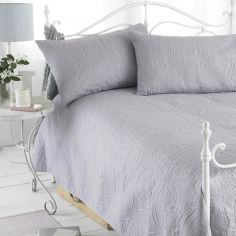 Embossed Bedspread & Pillowshams - Parisienne Grey