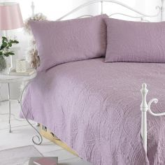 Embossed Bedspread & Pillowshams - Mauve