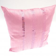 Sequin Sparkle Filled Cushion - Pink