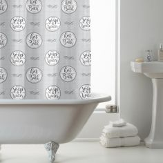 Luxury Fresh Soap & Bath Design PEVA Shower Curtain - Grey