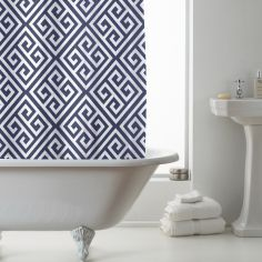Luxury Decorati PEVA Shower Curtain - Indigo Blue