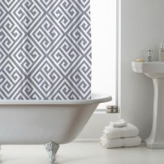 Luxury Geometric PEVA Shower Curtain - Grey