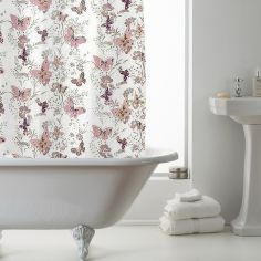 Luxury Butterfly PEVA Shower Curtain - Pink