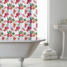 Luxury Flamingo PEVA Shower Curtain - Pink Multi