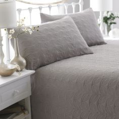 Leaf Embossed Bedspread - Natural