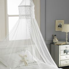 Popsicle Glitter Sequin Canopy Net - White