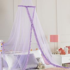 Rufflette Bed Canopy Net - Purple