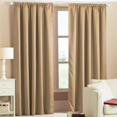 Woven Thermal Blackout Tape Top Curtains - Natural