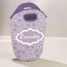 Ditsy Floral Laundry Hamper - Lilac Purple