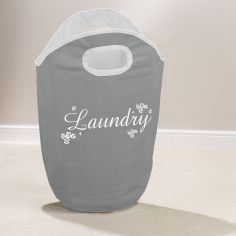 Ditsy Scroll Laundry Hamper - Grey White