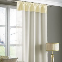 Opal Pleats Voile Slot Top Curtain Panel - Cream