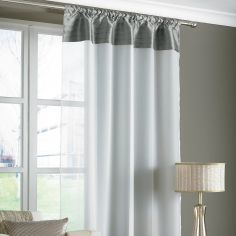 Opal Pleats Voile Slot Top Curtain Panel - Silver