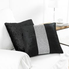 Diamante Sparkle Two-Pack Cushion Covers - Black