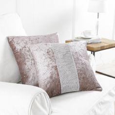 Diamante Sparkle Two-Pack Cushion Covers - Blush Pink