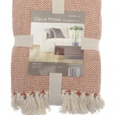 Opus Herringbone 100% Cotton Throw - Burnt Orange