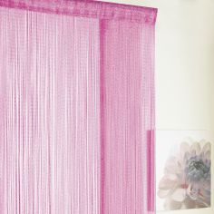 Glitter String Door/Window Curtain Panel - Pink