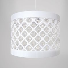 Moda Sparkle Pendant Light Shade Fitting - White