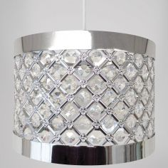 Moda Sparkle Pendant Light Shade Fitting - Silver