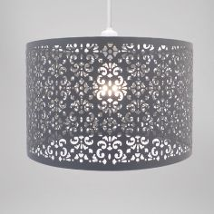 Large Marrakech Metal Light Shade - Grey